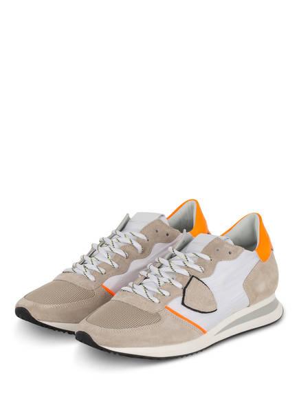 PHILIPPE MODEL Sneaker TRPX, Farbe: BEIGE/ WEISS/ ORANGE (Bild 1)