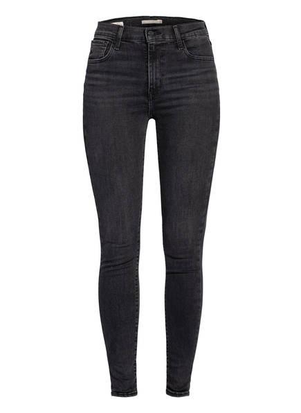 Levi's® Skinny Jeans 720 HIRISE SUPER SKINNY, Farbe: 85 SMOKED OUT BLACK (Bild 1)