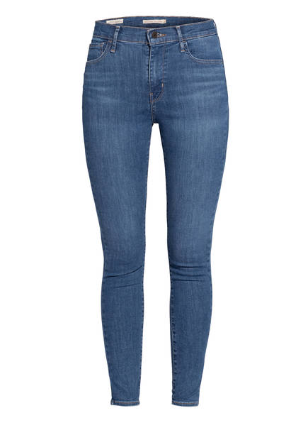 Levi's® Skinny Jeans 720 HIRISE SUPER SKINNY, Farbe: 93 ECLIPSE GRAZE BLUE (Bild 1)