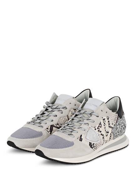 PHILIPPE MODEL Sneaker TRPX TROPEZ, Farbe: HELLGRAU/ SILBER (Bild 1)