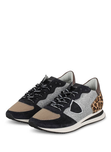 PHILIPPE MODEL Sneaker TRPX TROPEZ, Farbe: SCHWARZ/ BEIGE/ SILBER (Bild 1)