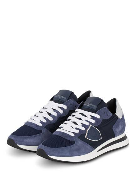 PHILIPPE MODEL Plateau-Sneaker TRPX TROPEZ, Farbe: DUNKELBLAU/ SILBER (Bild 1)