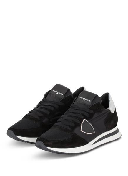 PHILIPPE MODEL Plateau-Sneaker TRPX TROPEZ, Farbe: SCHWARZ/ SILBER (Bild 1)