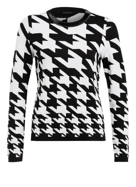 ESCADA Pullover mit Schmucksteinbesatz , Farbe: A001 BLACK (Bild 1)