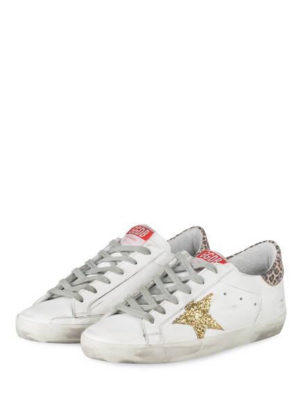 GOLDEN GOOSE Sneaker SUPERSTAR, Farbe: WEISS/ GOLD (Bild 1)