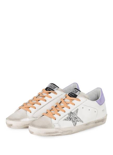 GOLDEN GOOSE Sneaker SUPERSTAR, Farbe: WEISS/ HELLGRAU/ SILBER (Bild 1)
