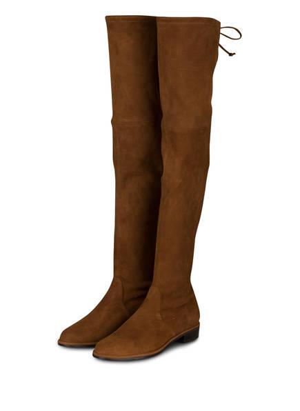 STUART WEITZMAN Overknee-Stiefel LOWLAND, Farbe: COGNAC (Bild 1)