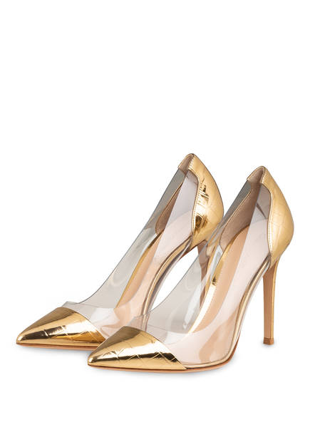 Gianvito Rossi Pumps, Farbe: GOLD/ TRANSPARENT (Bild 1)