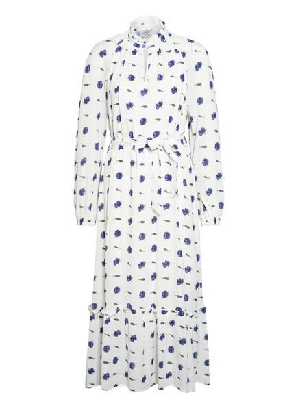 BAUM UND PFERDGARTEN Kleid ANTOINETTE mit Rüschenbesatz, Farbe: WEISS/ LILA/ GRÜN (Bild 1)