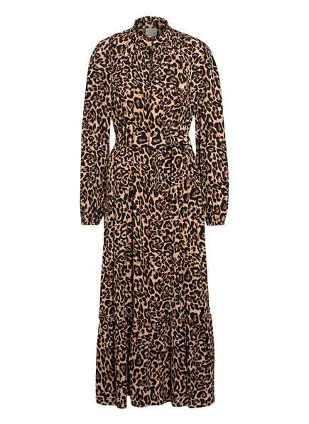 BAUM UND PFERDGARTEN Kleid ANTOINETTE mit Rüschenbesatz, Farbe: BEIGE/ SCHWARZ (Bild 1)