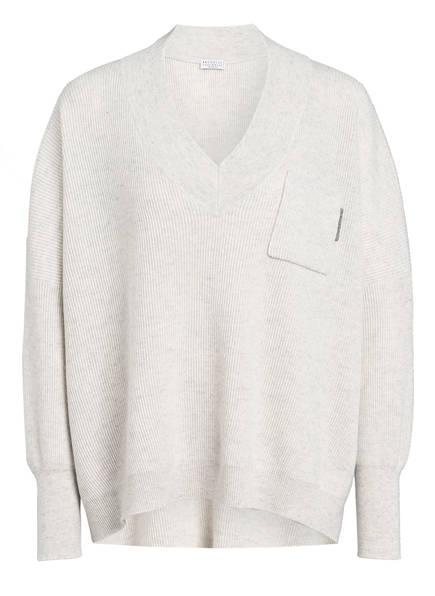 BRUNELLO CUCINELLI Cashmere-Pullover, Farbe: HELLGRAU (Bild 1)