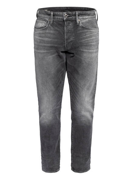 G-Star RAW Jeans 3301 Straight Tapered Fit, Farbe: B466 FADED BULLIT DARK GREY (Bild 1)