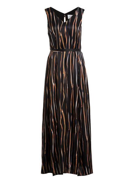 Marc O'Polo Pure Kleid mit Seide, Farbe: SCHWARZ/ BRAUN/ ORANGE (Bild 1)