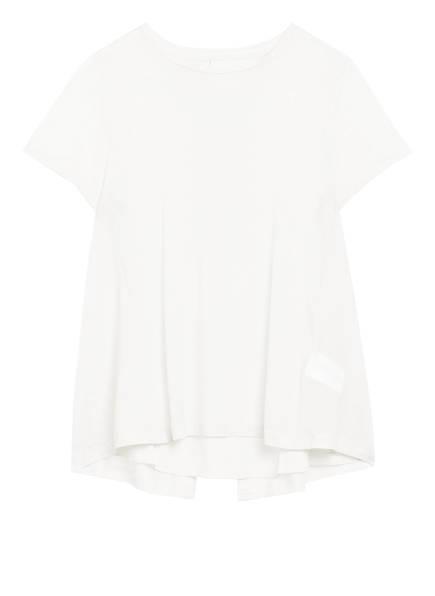 Marc O'Polo Pure Blusenshirt im Materialmix, Farbe: WEISS (Bild 1)