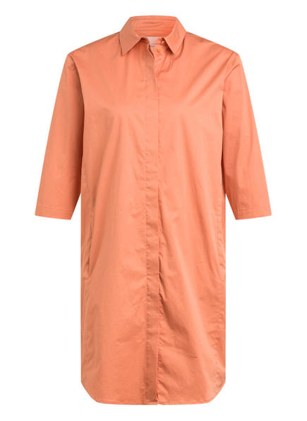 Marc O'Polo Pure Hemdblusenkleid mit 3/4-Arm, Farbe: LACHS (Bild 1)
