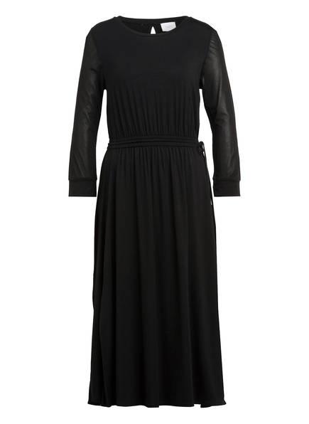 Marc O'Polo Pure Kleid mit 3/4-Arm im Materialmix, Farbe: SCHWARZ (Bild 1)
