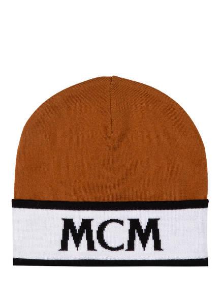 MCM Beanie, Farbe: COGNAC/ WEISS (Bild 1)
