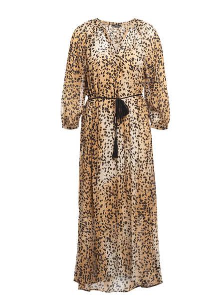 SET Kleid mit 3/4-Arm, Farbe: BEIGE/ HELLBRAUN/ SCHWARZ (Bild 1)