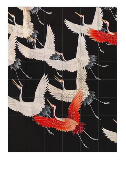 IXXI Zweiseitiges Wandpuzzle KIMONO WITH CRANES, Farbe: ROT/ SCHWARZ (Bild 1)