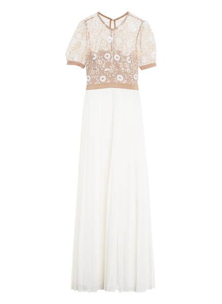 self-portrait Kleid mit Paillettenbesatz, Farbe: ECRU/ HELLBRAUN (Bild 1)