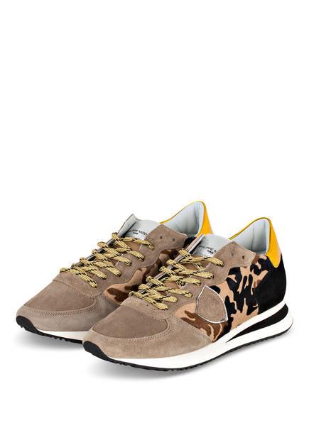 PHILIPPE MODEL Sneaker TRPX CAMOUFLAGE, Farbe: TAUPE/ BEIGE/ SCHWARZ (Bild 1)