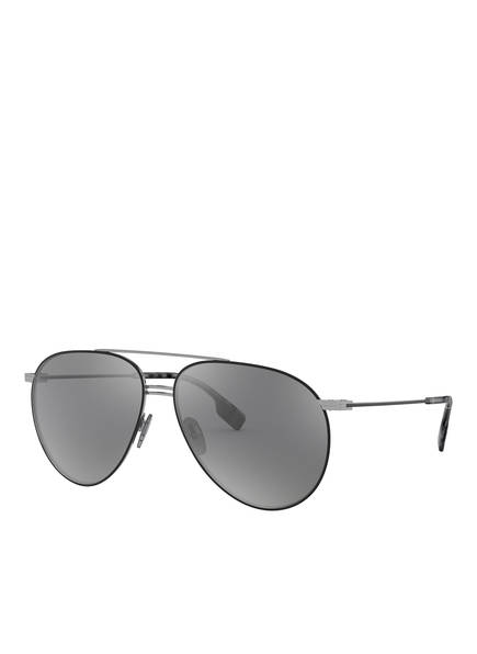 BURBERRY Sonnenbrille BE3108, Farbe: 12956G - SILBER/ SCHWARZ (Bild 1)