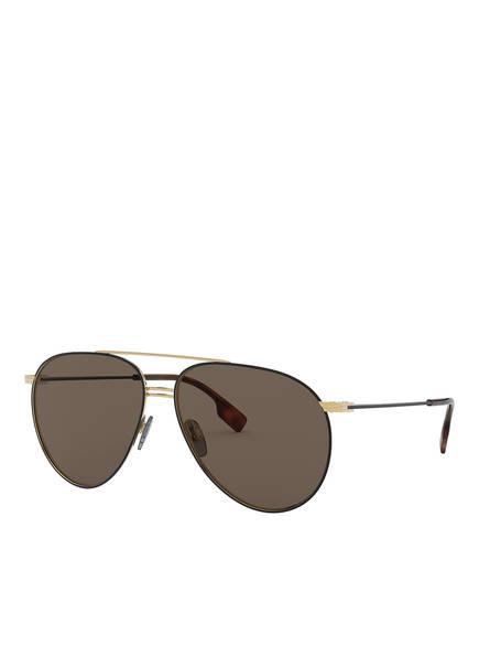 BURBERRY Sonnenbrille BE3108, Farbe: 1293/3 - GOLD/ BRAUN (Bild 1)