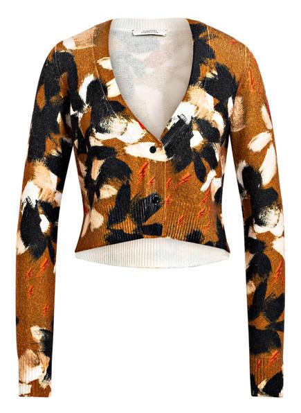 DOROTHEE SCHUMACHER Strickjacke mit Cashmere , Farbe: BRAUN/ SCHWARZ (Bild 1)
