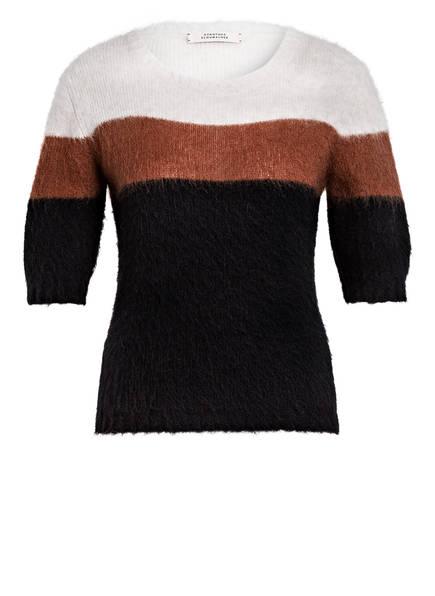 DOROTHEE SCHUMACHER Strickshirt mit Alpaka, Farbe: DUNKELBLAU/ BRAUN/ ECRU (Bild 1)