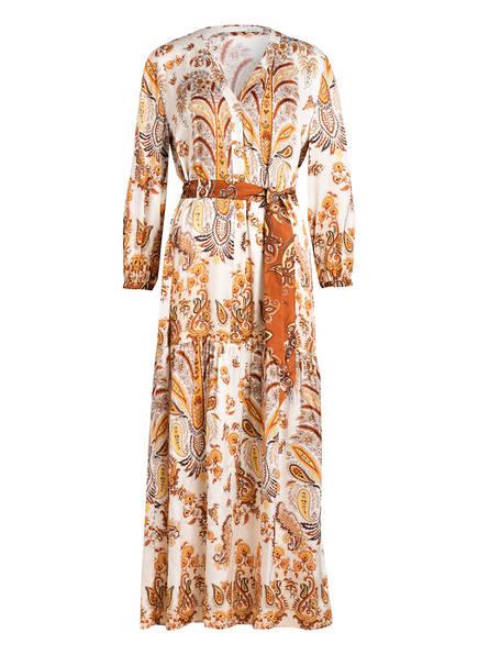 oui Kleid mit 3/4-Arm , Farbe: CREME/ HELLBRAUN/ HELLORANGE (Bild 1)