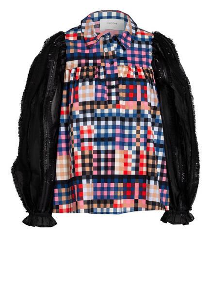 MUNTHE Blusenshirt LIMA mit Glitzergarn, Farbe: SCHWARZ/ BLAU/ ROSA (Bild 1)
