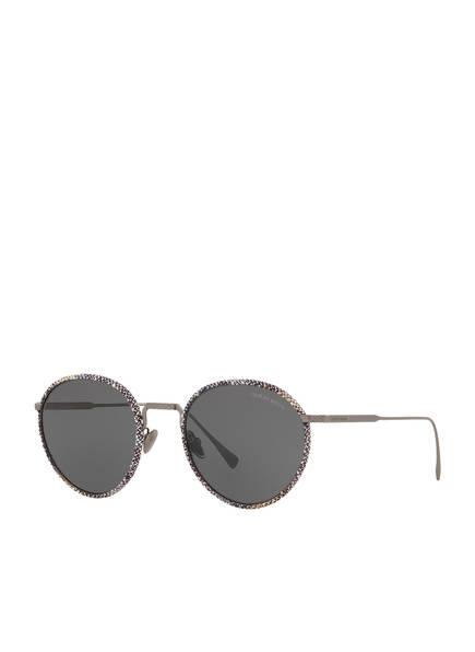 EMPORIO ARMANI Runde Sonnenbrille, Farbe: 300387 SCHWARZ/ WEISS/ GRAU (Bild 1)