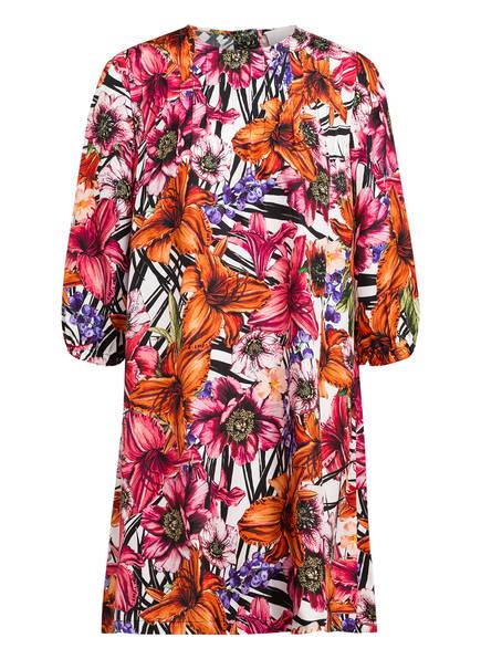 Mrs & HUGS Seidenkleid mit 3/4-Arm, Farbe: WEISS/ PINK/ ORANGE (Bild 1)
