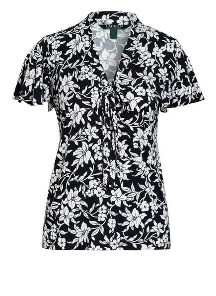 LAUREN RALPH LAUREN Blusenshirt, Farbe: DUNKELBLAU/ WEISS (Bild 1)