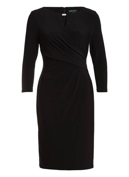 LAUREN RALPH LAUREN Kleid mit 3/4-Arm in Wickeloptik , Farbe: 002 BLACK (Bild 1)