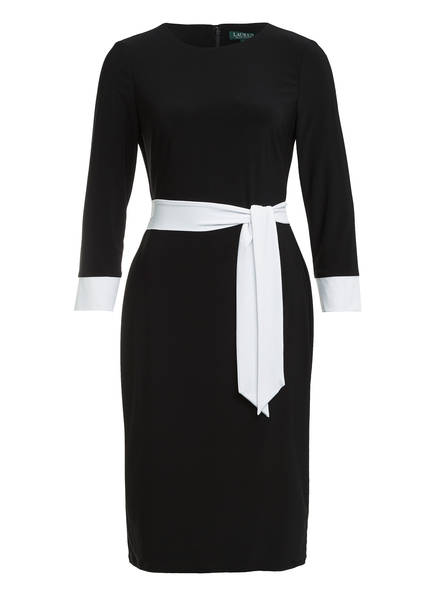LAUREN RALPH LAUREN Kleid mit 3/4-Arm, Farbe: SCHWARZ/ WEISS (Bild 1)
