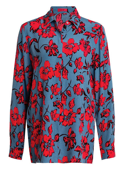HUGO Hemdbluse ADDIGN, Farbe: BLAU/ ROT (Bild 1)