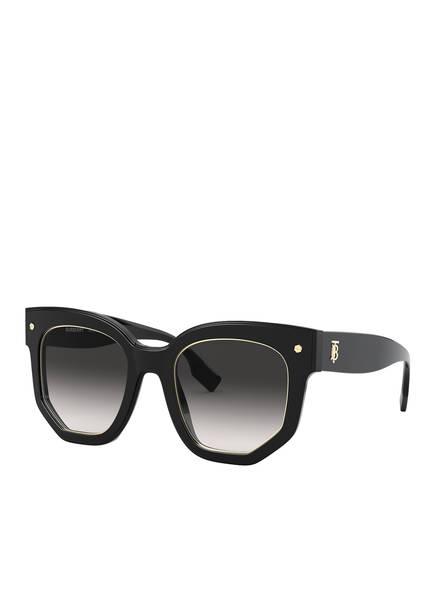 BURBERRY Runde Sonnenbrille, Farbe: 30018G - SCHWARZ/ GRAU VERLAUF (Bild 1)