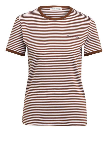 Marc O'Polo T-Shirt, Farbe: BRAUN/ WEISS GESTREIFT (Bild 1)