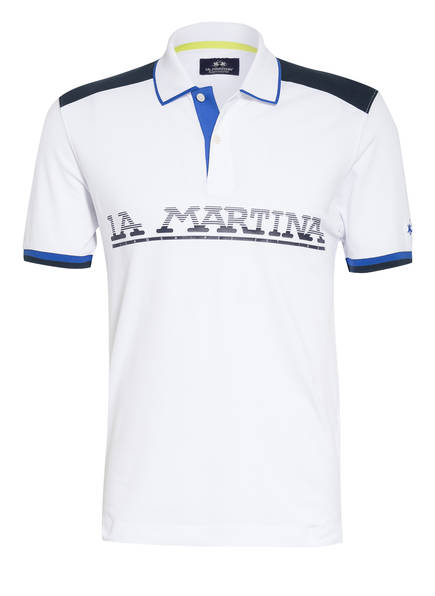 LA MARTINA Piqué-Poloshirt, Farbe: WEISS (Bild 1)