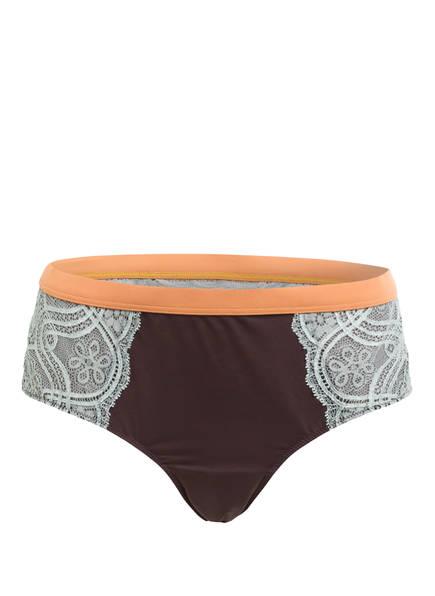 mey Panty Serie POETRY FASHION LACE, Farbe: DUNKELBRAUN/ HELLGRÜN (Bild 1)