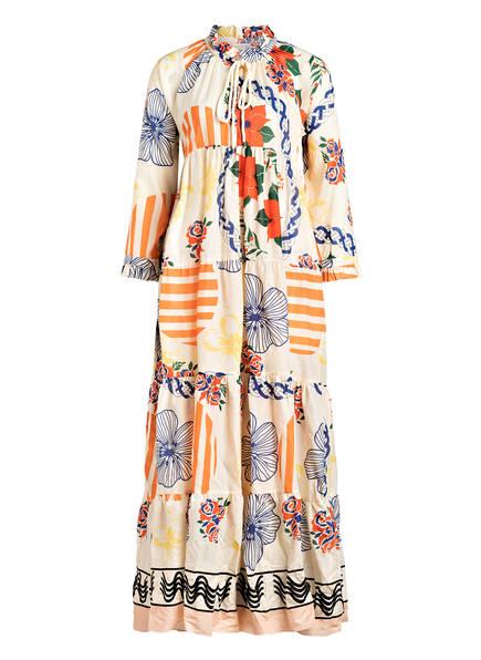 Marc O'Polo Kleid mit 3/4-Arm , Farbe: ECRU/ ORANGE/ BLAU (Bild 1)