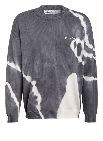 OFF-WHITE Pullover, Farbe: GRAU/ WEISS (Bild 1)