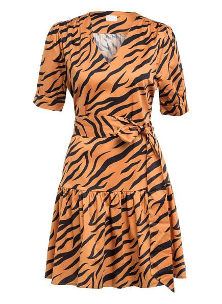 Mrs & HUGS Kleid mit Volantbesatz, Farbe: COGNAC/ SCHWARZ (Bild 1)