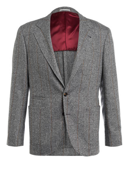 BRUNELLO CUCINELLI Sakko Extra Slim Fit , Farbe: HELLGRAU/ DUNKELGRAU (Bild 1)
