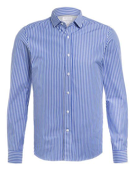 BRUNELLO CUCINELLI Hemd Leisure Fit, Farbe: BLAU/ WEISS GESTREIFT (Bild 1)