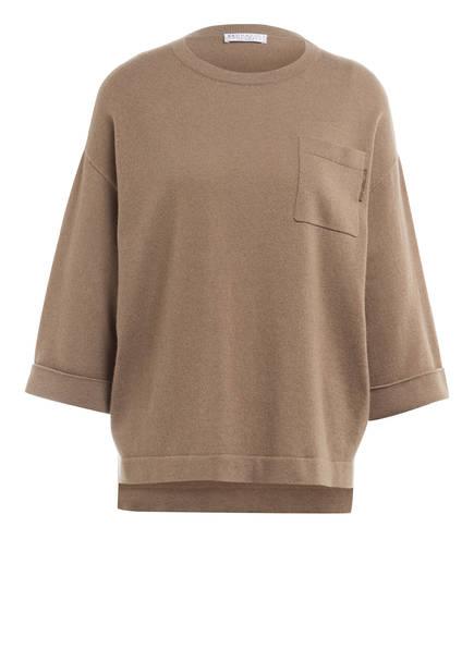 BRUNELLO CUCINELLI Cashmere-Pullover mit 3/4-Arm, Farbe: HELLBRAUN (Bild 1)