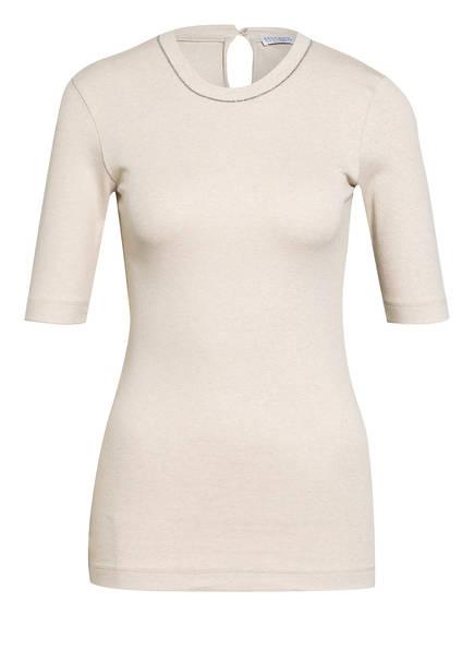 BRUNELLO CUCINELLI Strickshirt mit Perlenbesatz, Farbe: CREME (Bild 1)