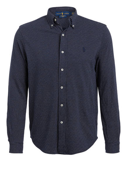 POLO RALPH LAUREN Hemd Slim Fit , Farbe: DUNKELBLAU GEPUNKTET (Bild 1)