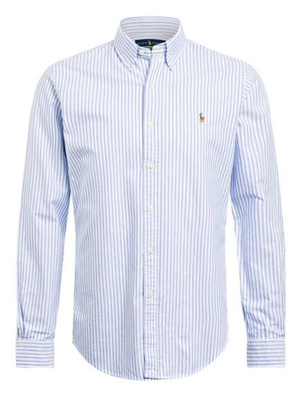 POLO RALPH LAUREN Hemd Custom Fit, Farbe: WEISS/ HELLBLAU GESTREIFT (Bild 1)